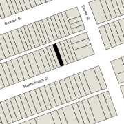 Irregular Lot 16.72' on Marlborough, 16.71' on Alley 417, x 112' North-South (1,871 sf)