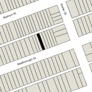 Irregular Lot 16.72' on Marlborough, 16.67' on Alley 417, 112' North-South (1,871 sf)