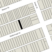 Irregular Lot 16.66' on Marlborough, 16.71 on Alley 417, 112' North-South (1,869 sf)