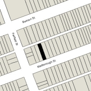 Irregular Lot 21.97' on Marlborough, 21.95' on Alley 417, 112' North-South (2.460 sf)