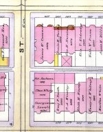 Detail from the 1888 Bromley map, showing the stables behind 277-279 Marlborough and 343 Beacon.