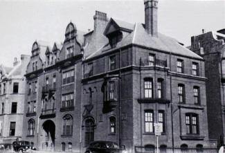 8-12 Fairfield (ca. 1942), photograph by Bainbridge Bunting, courtesy of the Boston Athenaeum