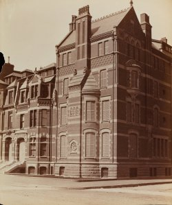 Commonwealth façade of 21 Fairfield and 245 Commonwealth (ca. 1895); Soule Photograph Company, courtesy of Historic New England