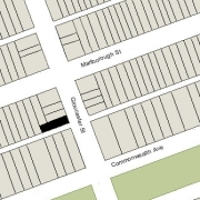 Irregular Lot 23' on Gloucester, 84' on Alley 428, 23.5' at West (1.944 sf)