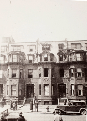 353 Marlborough following the fire of May 7, 1935; courtesy of Historic New England