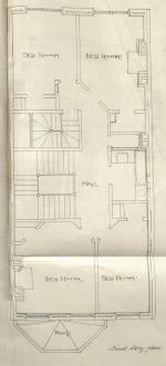 Third floor plan of 400 Marlborough, bound with the final building inspection report, 26Dec1888 (v. 27, p. 29); Boston City Archives
