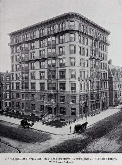 416 Marlborough, from the catalogue for the 1899 Exhibition of the Boston Architectural Club and Boston Society of Architects