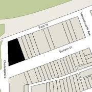 Irregular Lot 113.64' on Beacon, 158.17' on Charlesgate East, 63.45 on Back St., 150' on west (13,282 sf)