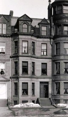 387 Commonwealth (ca. 1896). detail from photograph of 383-387 Commonwealth; © The Mary Baker Eddy Collection; used with permission.