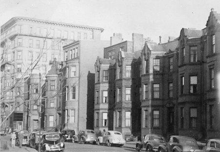 424-436 Marlborough, with 416 Marlborough in the distance (ca. 1942), photograph by Bainbridge Bunting, courtesy of The Gleason Partnership
