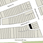 Irregular Lot: 25' on Marlborough (1,755 sf)