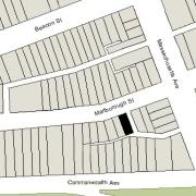 Irregular Lot: 23.72' on Marlborough (1,600 sf)