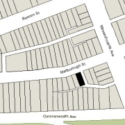 Irregular Lot: 23.72' on Marlborough (1,600 sf)