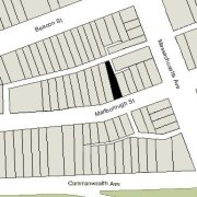 Irregular Lot: 30.94' on Marlborough (2,666 sf)