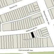 Irregular Lot: 23.17' on Marlborough (1,566 sf)