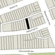 Lirregular Lot: By two lines on Marlborough, 8.64' and 14.57' (2,705 sf)