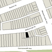 Irregular Lot: 22.62' on Marlborough (1,718 sf)