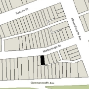 Irregular Lot: 23.16' on Marlborough (1,566 sf)