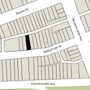 Irregular Lot: 28.74' on Marlborough (2,216 sf)