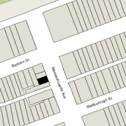 Irregular lot: 29.98' on Massachusetts (1,261 sf)