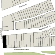 Irregular Lot: 41' on Commonwealth, 130' on Charlesgate East, and 41.11' on Marlborough (5,391.4 sf)