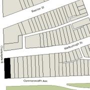 Irregular Lot: 41' on Commonwealth, 130' on Charlesgate East, and 41.11' on Marlborough (5,391.4 sf)
