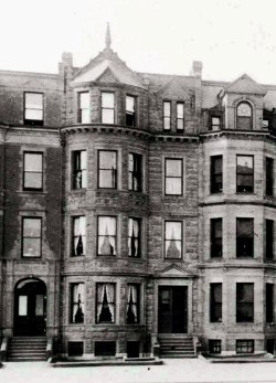 389 Commonwealth (ca. 1898). detail from photograph of 381-389 Commonwealth; © The Mary Baker Eddy Collection; used with permission.