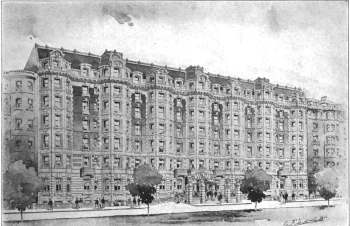 390 Commonwealth, architect's rendering, Architecture and Building, Auf1911