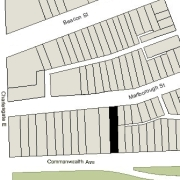 Irregular Lot: 26' on Commonwealth and 26.07' on Marlborough (4,038 sf)