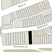 Irregular Lot: 31.97' on Commonwealth and 32.09' on Marlborough (4,899.9 sf)