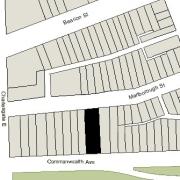 Irregular Lot: 46.03' on Commonwealth and 46.12' on Marlborough (6,919.10 sf)