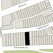 Irregular Lot: 46.03' on Commonwealth and 46.12' on Marlborough (6,919.10 sf)