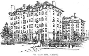 Drawing of the Hotel Somerset at the time of its opening in 1899