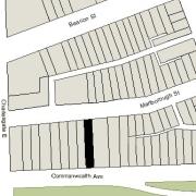 Irregular Lot: 26' on Commonwealth and 26.07' on Marlborough (3,841 sf)