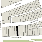 Irregular Lot: 25' on Commonwealth and 25.07' on Marlborough (3,646.6 sf)