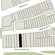Irregular Lot: 25' on Commonwealth and 25.6' on Marlborough (3,601.1 sf)