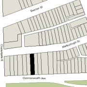 Irregular Lot: 25' on Commonwealth and 25.6' on Marlborough (3,601.1 sf)