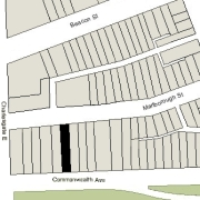 Irregular Lot: 24.77' on Commonwealth and 24.84' on Marlborough (3,522.9 sf)
