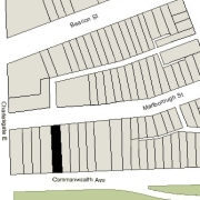 Irregular Lot: 30' on Commonwealth and 30.08' on Marlborough (4,206.66 sf)