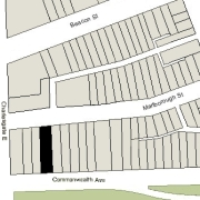 Irregular Lot: 32' on Commonwealth and 32.08' on Marlborough (4,414.67 sf)