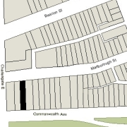 Irregular Lot: 28' on Commonwealth and 28.08' on Marlborough (3,801.5 sf)