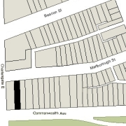 Irregular Lot: 24' on Commonwealth and 24.06' on Marlborough (3,212.9 sf)