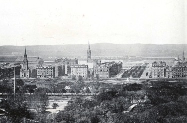 Arlington and Commonwealth (ca. 1869), detail from photograph courtesy of the Boston Public Library Print Department