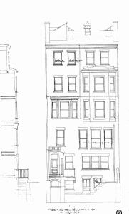 Comm 347 - Rear Elevation (1912) - BPL - Blueprint - BW