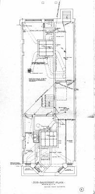 Marl 189 - Floor Plan (1906) - Sub-basement Reverse