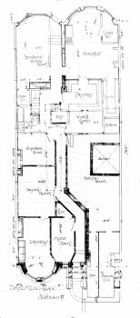 Basement plan, 350 Beacon (1896)