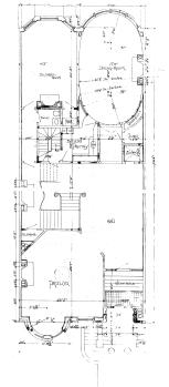 First floor plan, 350 Beacon (1896)