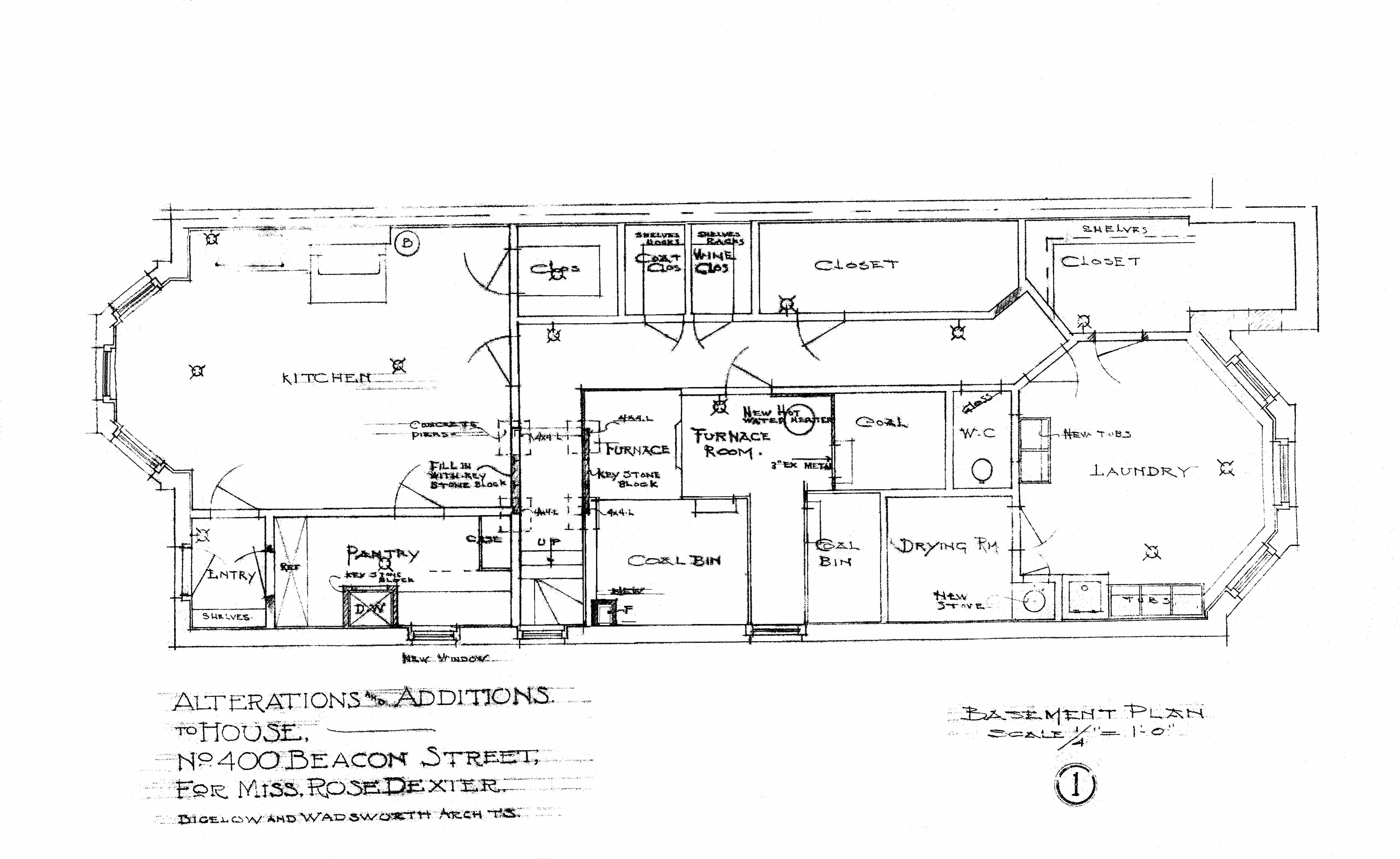 Architectural Plans: 400 Beacon – Remodeling (1910)