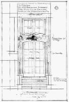 Architectural rendering of new front entrance to 400 Beacon (1910), by Bigelow and Wadsworth; courtesy of the Boston Public Library Arts Department