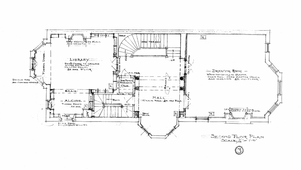 400 Beacon, second floor plan (1910)